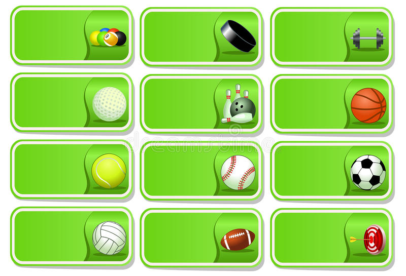 Download Sport balls icon set stock vector. Illustration of ball - 25948041