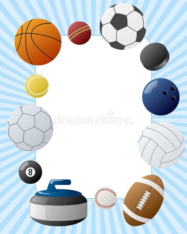 Download Sport Balls Photo Frame stock vector. Image of ball, abstract - 21840290