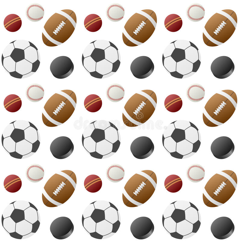 Sport Balls Seamless Pattern [1] vector illustration