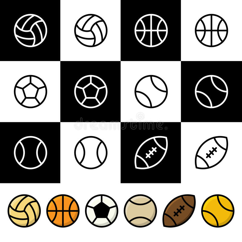 Sport balls vector icon set vector illustration