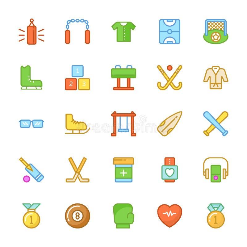 Sport Barwione Wektorowe ikony 5 ilustracja wektor