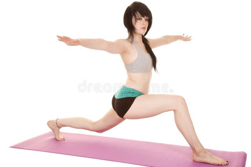 Sport-BHlaufleine der Frauenkurzen hosen stockfoto