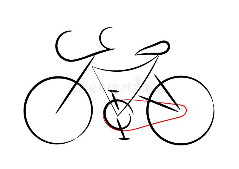 Download Sport bicycle stock vector. Image of abstract, lines - 22262975