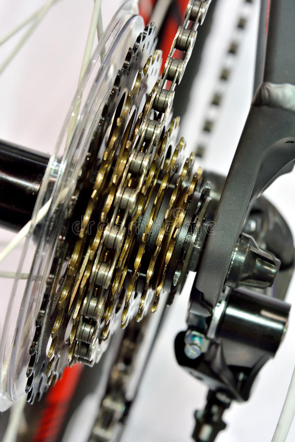 Download Sport bicycle gear machine stock image. Image of detail - 33309847