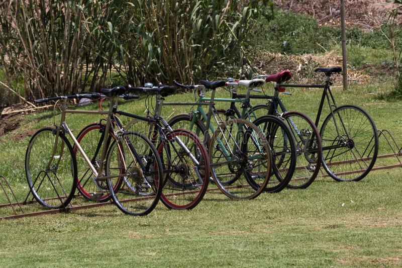 Sport Bicycles in Soweto Johannesburg. Sport Bicycles in Soweto, Johannesburg, South Africa royalty free stock image