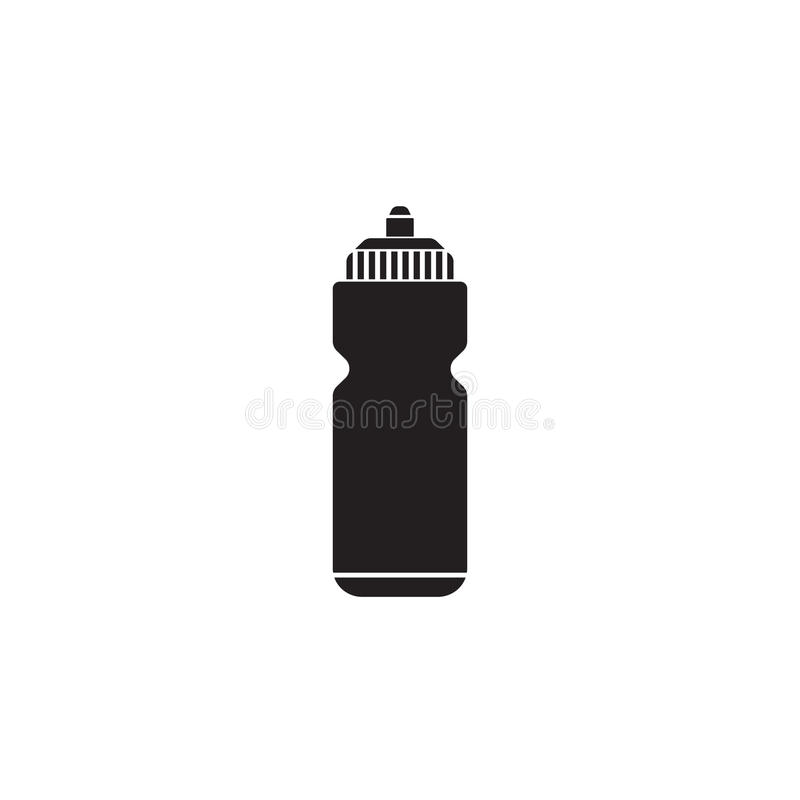 Sport bottle water solid icon, hydro flask royalty free illustration