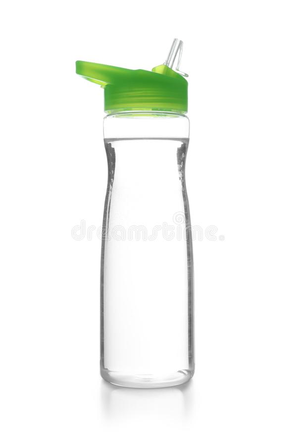 Sport bottle with water. On white background royalty free stock photo