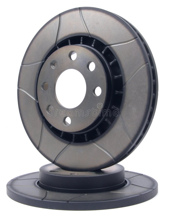 Sport Brake Disc duo. Composition of sport brake disc. You don't see disc like that in every store royalty free stock photos