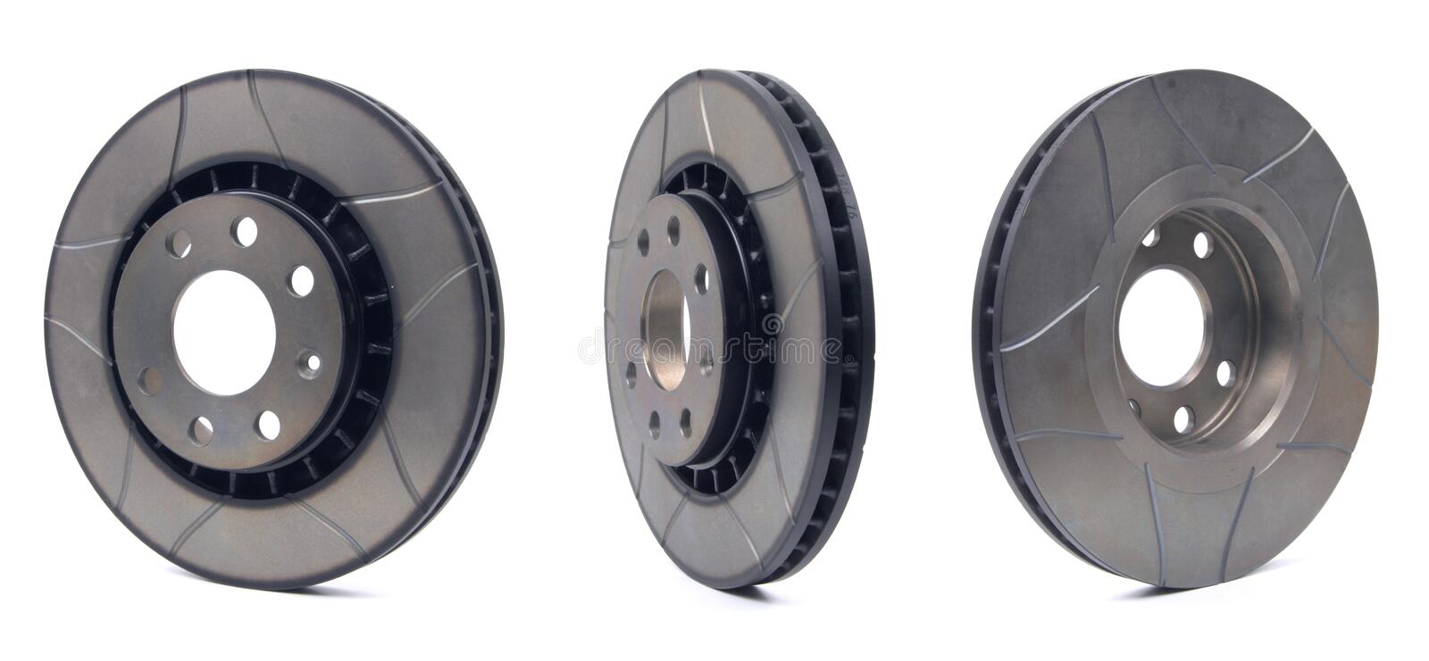Sport Brake Disc trio. Composition of sport brake disc. You don't see disc like that in every store royalty free stock photos