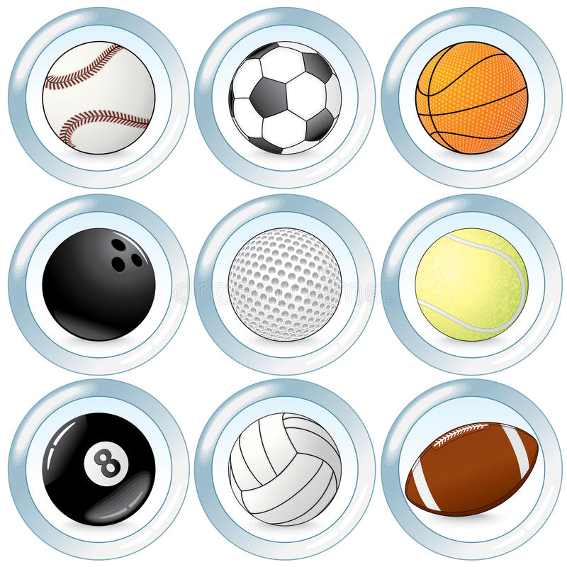 Download Sport buttons stock vector. Image of round, collection - 15341726