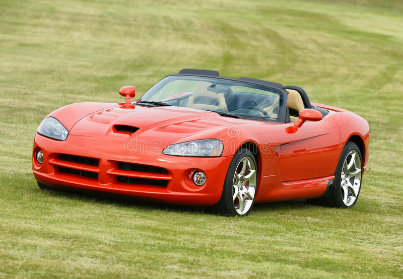 Sport car. Picture of the dodge viper srt10 2010 royalty free stock photo