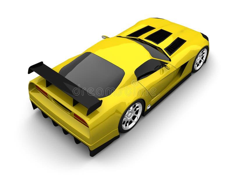 Sport car. Super sport car 3d model render vector illustration