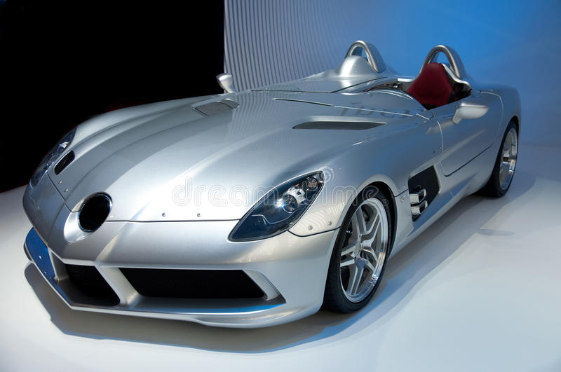 Sport car. Futuristic sport car cabriolet without trademarks royalty free stock image