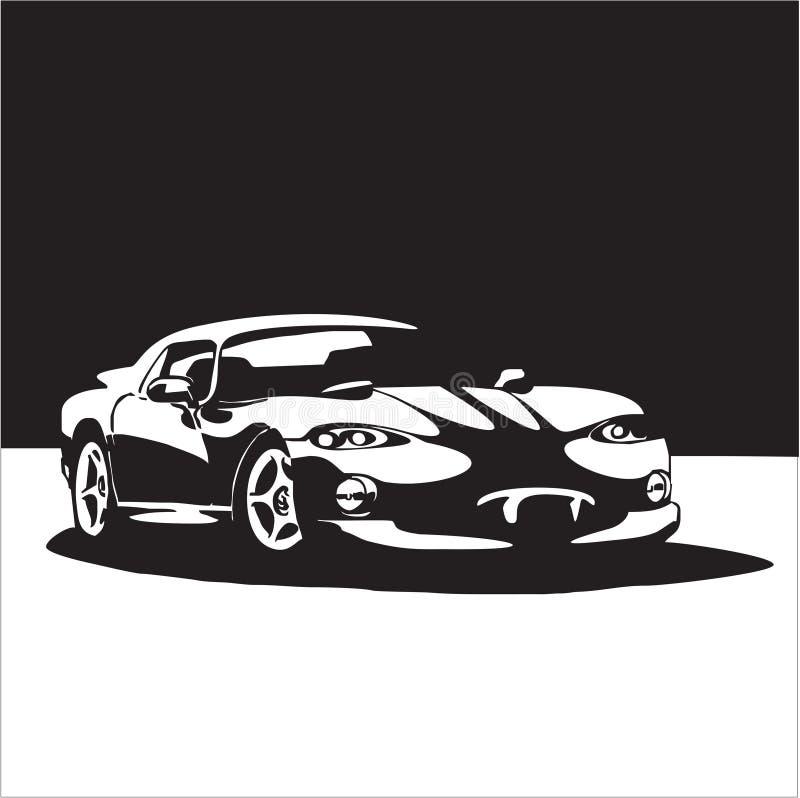 Sport car. Classic car. modern design royalty free illustration