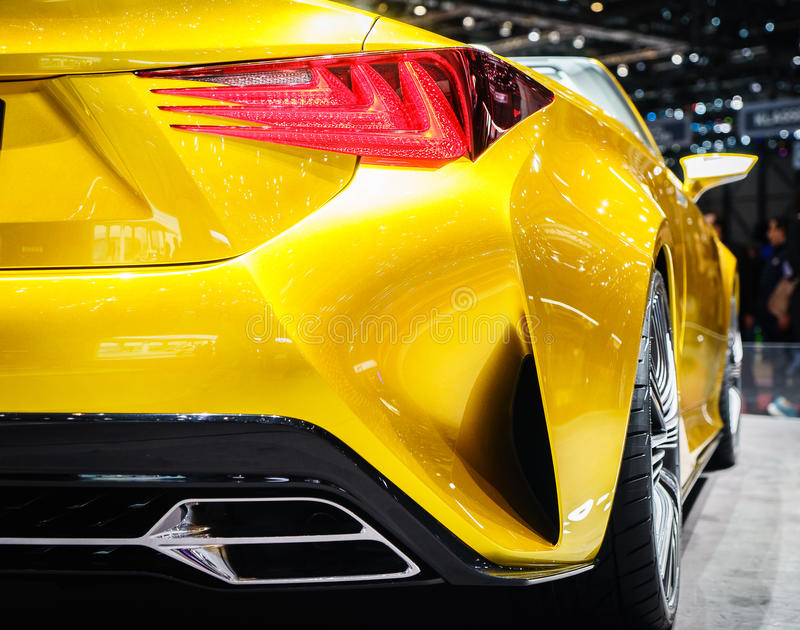 Sport Car. Details of a sport car, Motor Show Geneve 2015. Photo taken on: March 5th, 2015 royalty free stock images