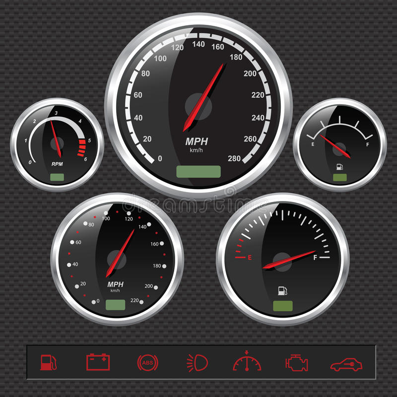 Sport Car Dials vector illustration