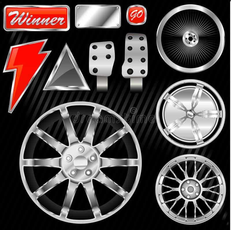 Download Sport car equipments stock vector. Image of custom, logo - 6354985