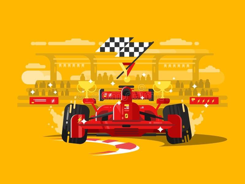 Sport car formula one vector illustration