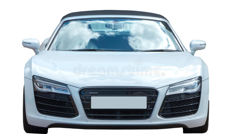 Sport Car Isolated - Audi R8. White sport car isolated Audi R8 stock photo
