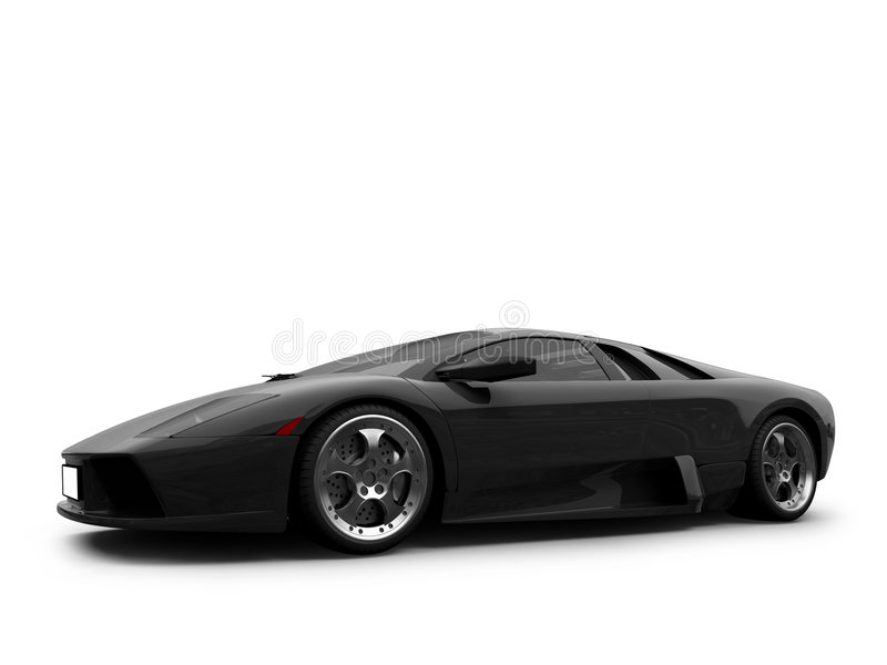Sport car isolated front view vector illustration