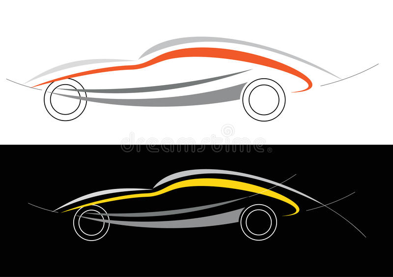 Download Sport car logo stock vector. Image of move, drawing, sport - 18872483