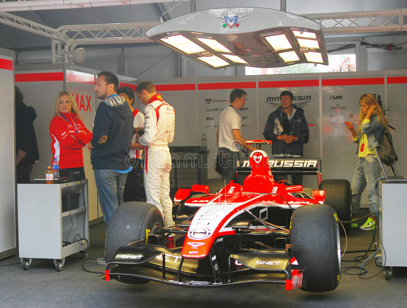 A Sport Car Of Marussia F1 Team Editorial Stock Photo