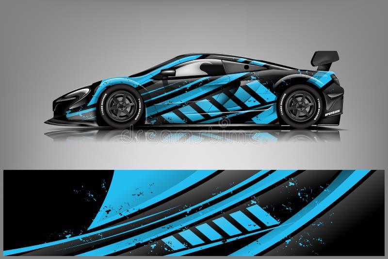 Sport car racing wrap design. vector design. - Vector. Eps 10 stock illustration
