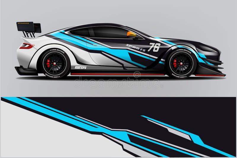 Sport car racing wrap design. vector design. - Vector. Design illustration stock illustration
