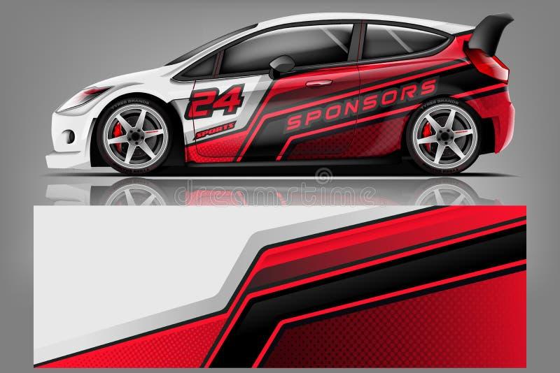 Sport car racing wrap design. vector design. - Vector royalty free stock photo