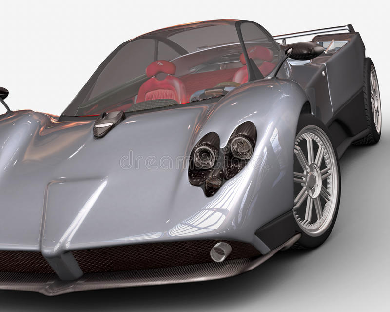 Sport car rendering royalty free illustration