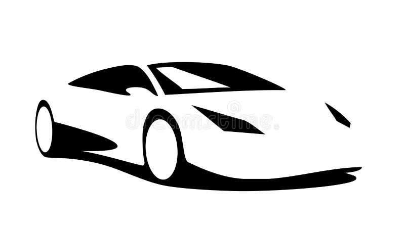 sport car silhouette stock vector illustration of black 58295319 rh dreamstime com auto silhouette vector car silhouette vector png