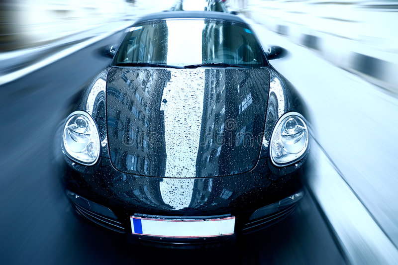 Download Sport Car With Special Zoom Blur Effect Editorial Stock Image - Image: 4808899