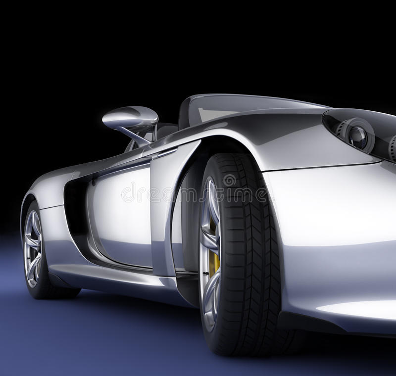Sport car in studio stock photography