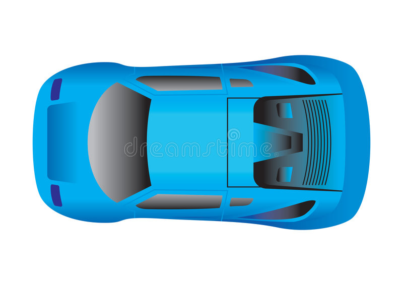 Sport Car Top View