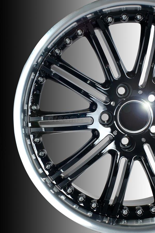 Sport car wheel. Detail of beauty design of Sport Car Wheel royalty free stock photos