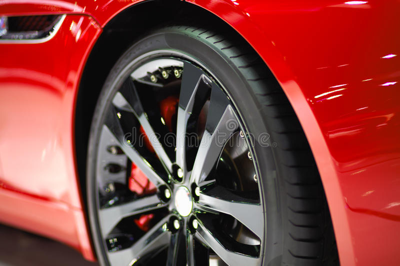 Sport car wheel stock photography