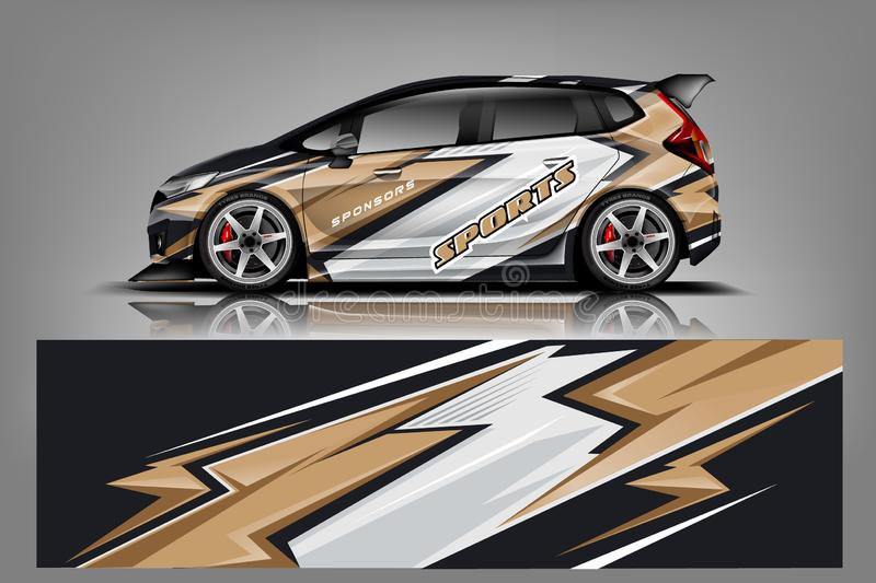 Sport Car wrap design vector, truck and cargo van decal. Graphic abstract stripe racing background designs for vehicle, rally, rac. E, advertisement, adventure vector illustration
