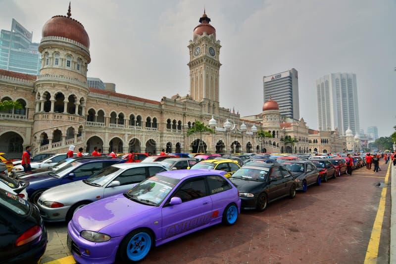 Sport cars exhibition in Merdeka Square. Kuala Lumpur. Malaysia stock images