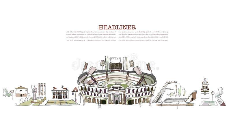 Sport center stock illustration