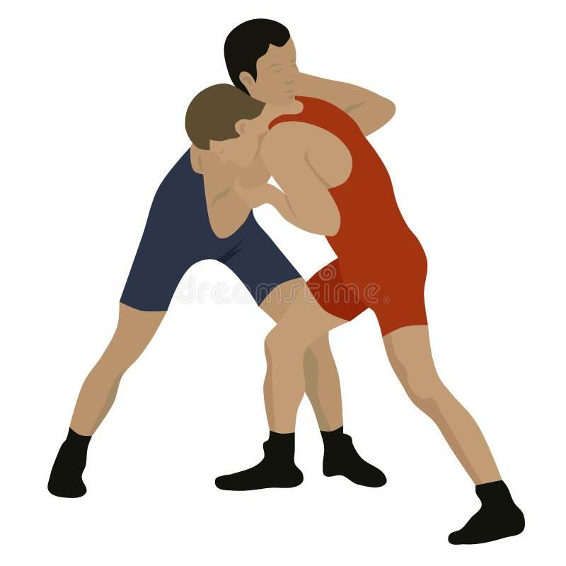 Sport che lotta illustrazione di stock