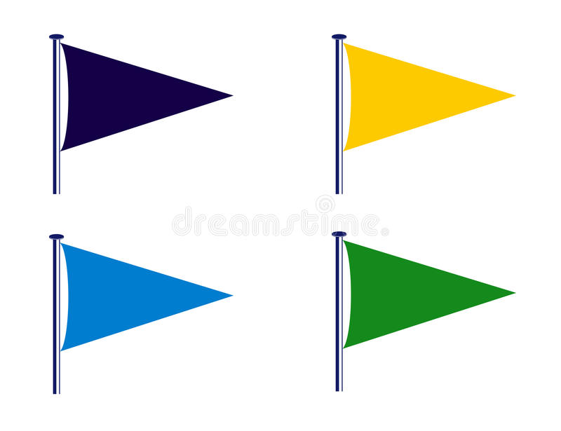 Sport club flags royalty free stock image