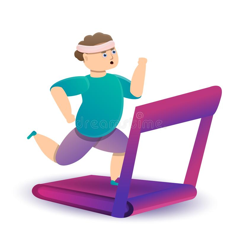 Sport concept design with running man on a treadmill stock illustration
