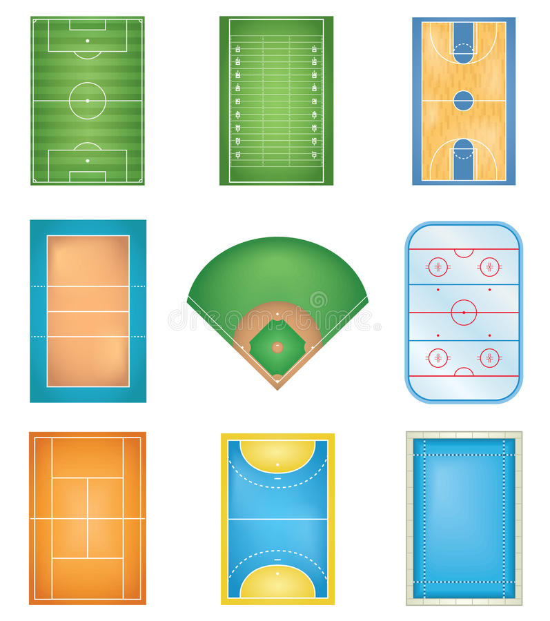 Sport Courts vector illustration