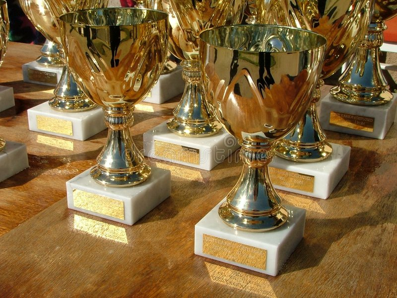 Sport cups royalty free stock image