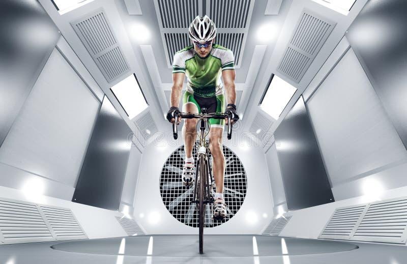 Sport. Cyclist royalty free stock photos