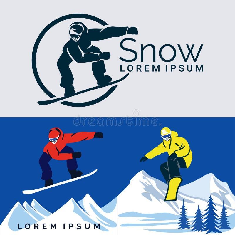 Sport d'hiver de snowboarding image libre de droits