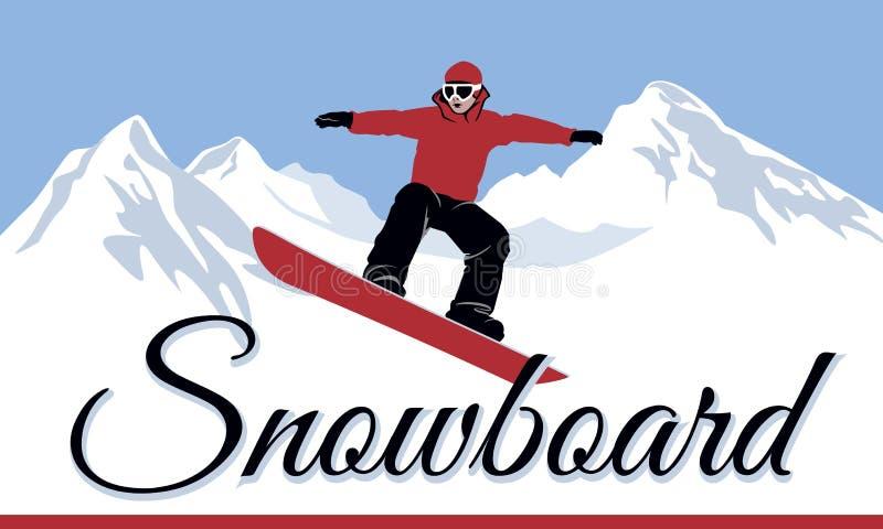 Sport d'hiver de surfeurs images libres de droits