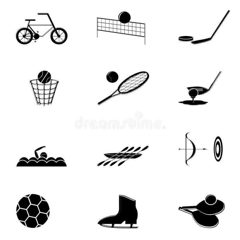 Sport d'icônes illustration de vecteur