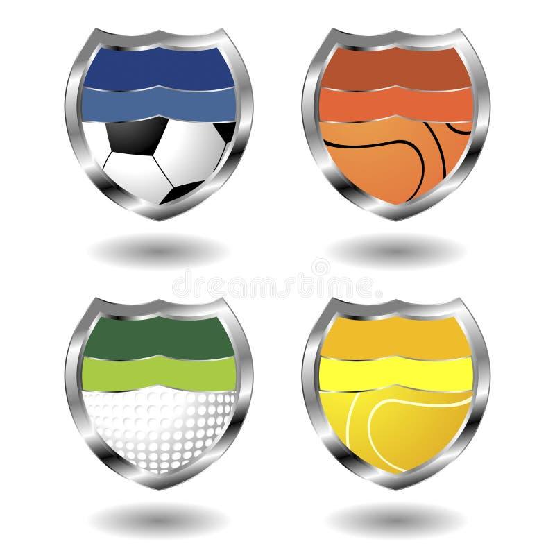 sport d'insignes illustration libre de droits