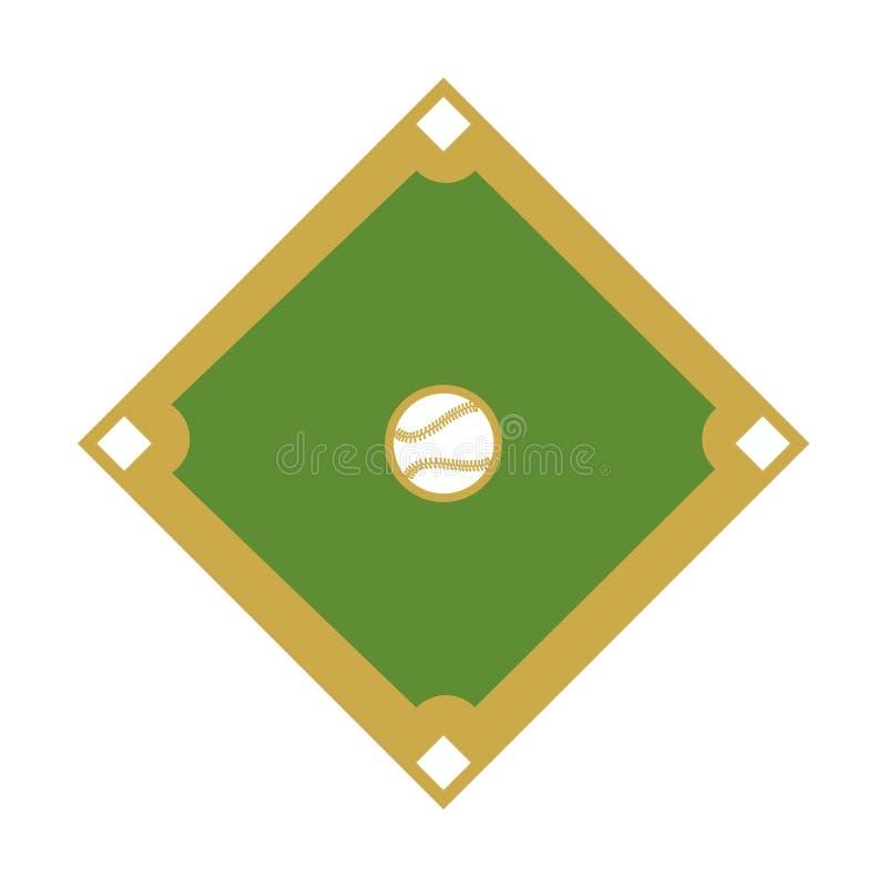 Sport de base-ball de diamant de camp illustration libre de droits